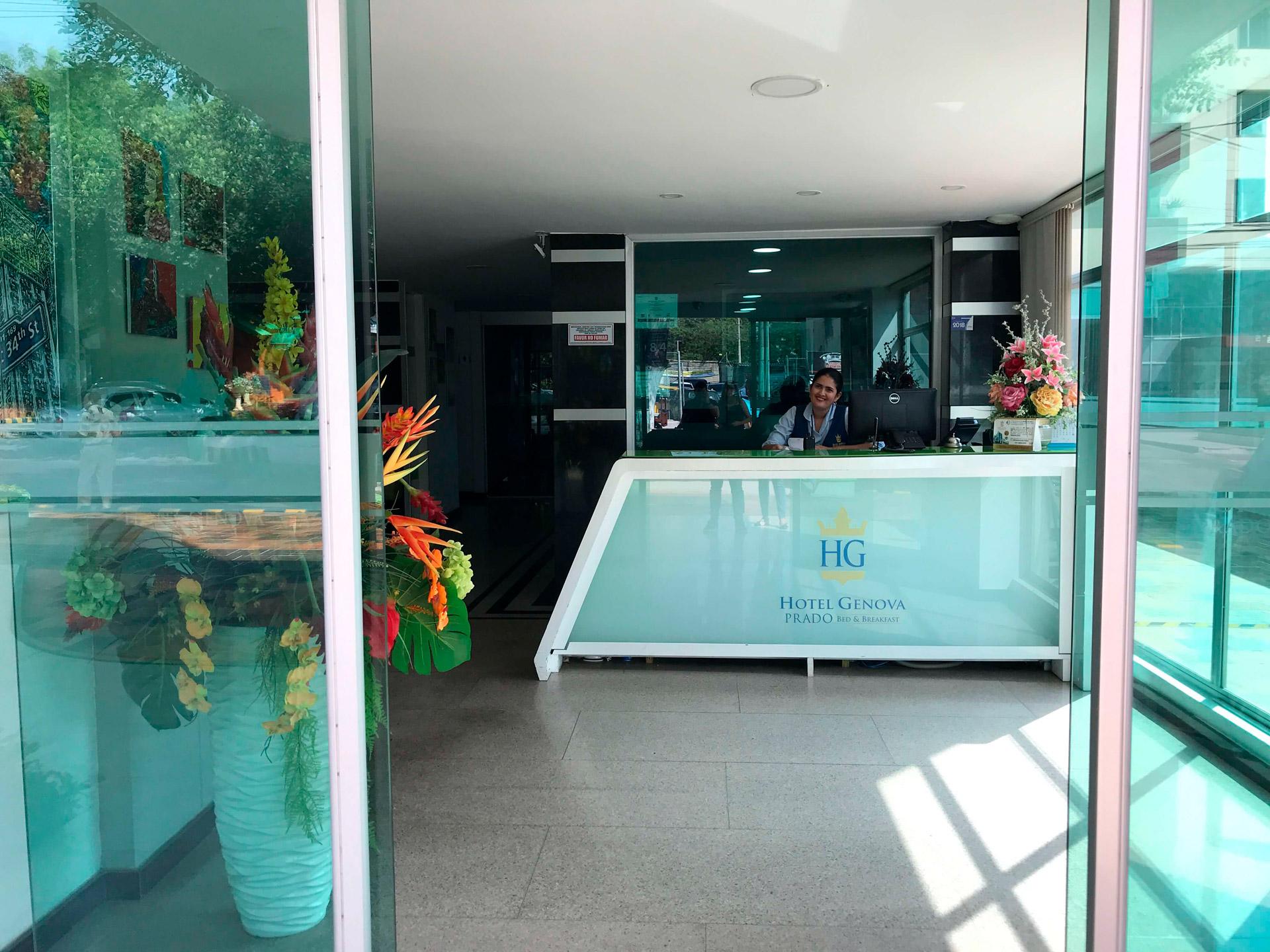 Lobby hotel Génova Prado