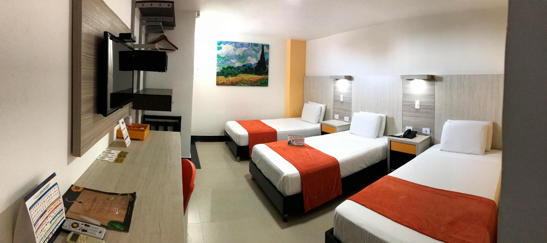 Habitación para más de tres personas - Hotel en barranquilla, colombia