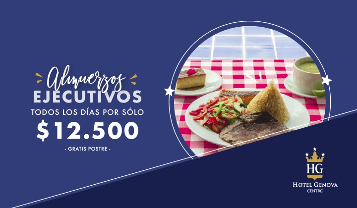 Almuerzos ejecutivos todos los días por solo 12.000 - Hotel Génova Centro