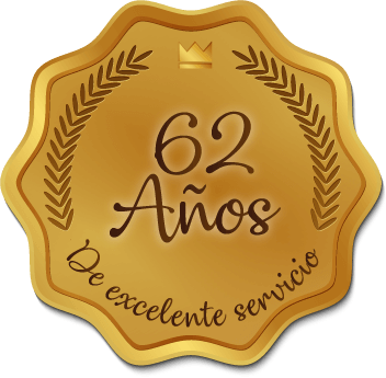 Medalla 62 años de excelente servicio - Hotel Génova Centro